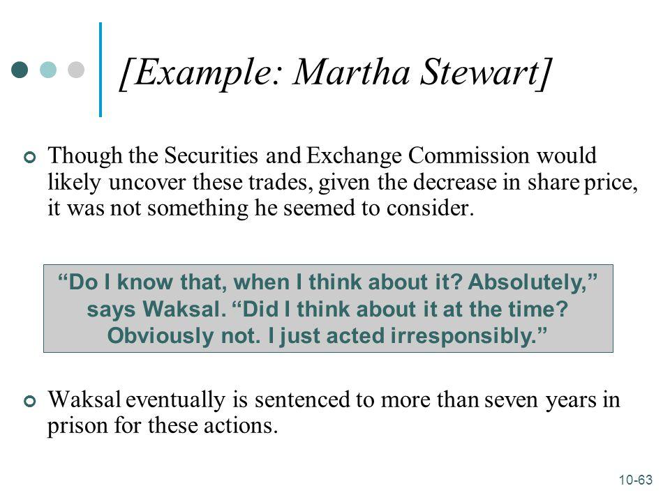 [Example: Martha Stewart]